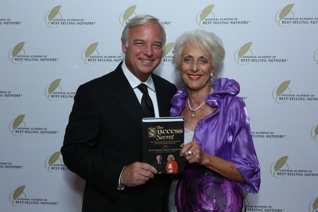 Diana with Jack Canfield at Int'l Best Selling Author Award Ceremony