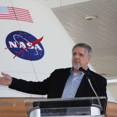 Speaking at a NASA event